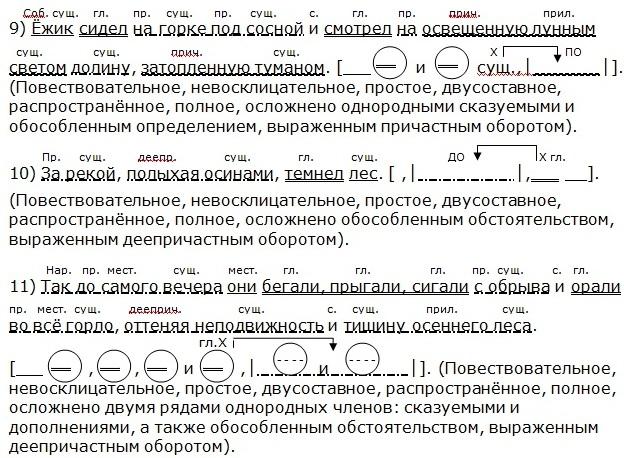 образцы синтаксического разбора сложных предложений - фото 7